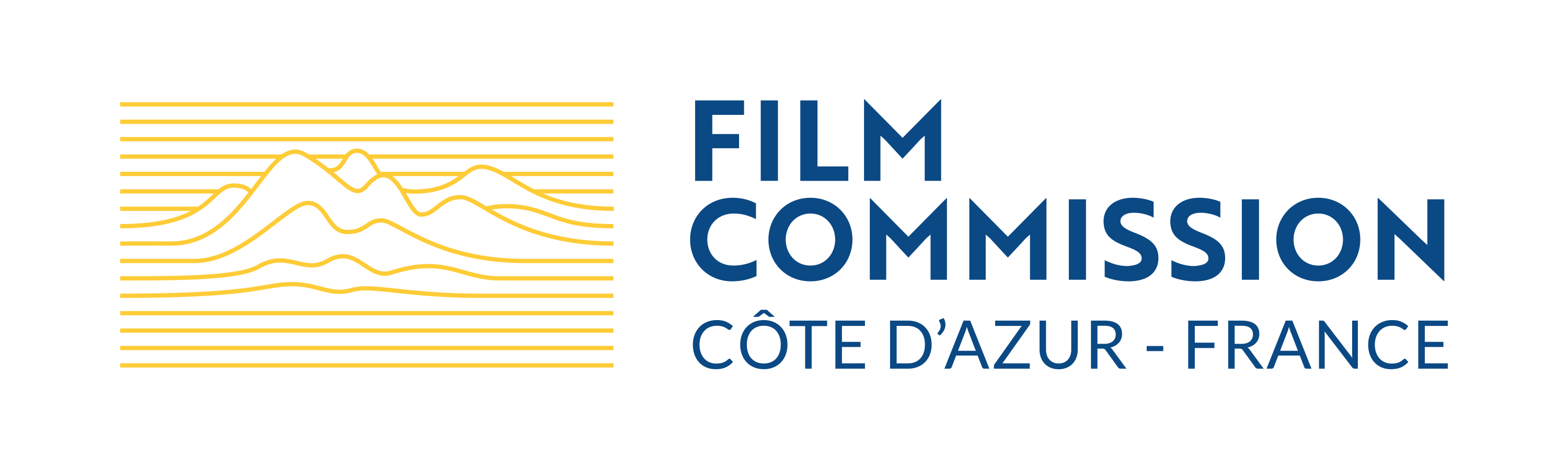 Film Commission Logo - Yellow & Blue